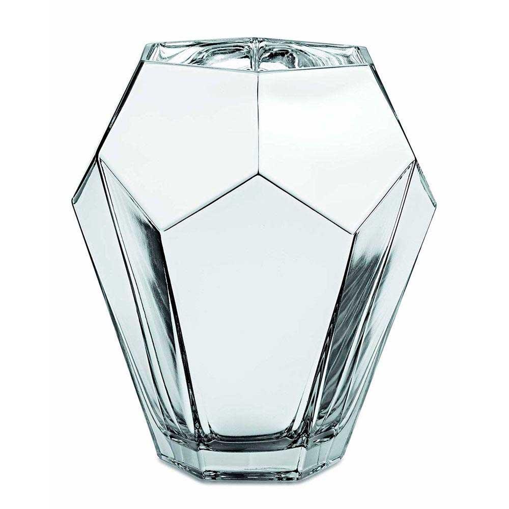 Vaso Decorativo de Vidro Prata 19cm