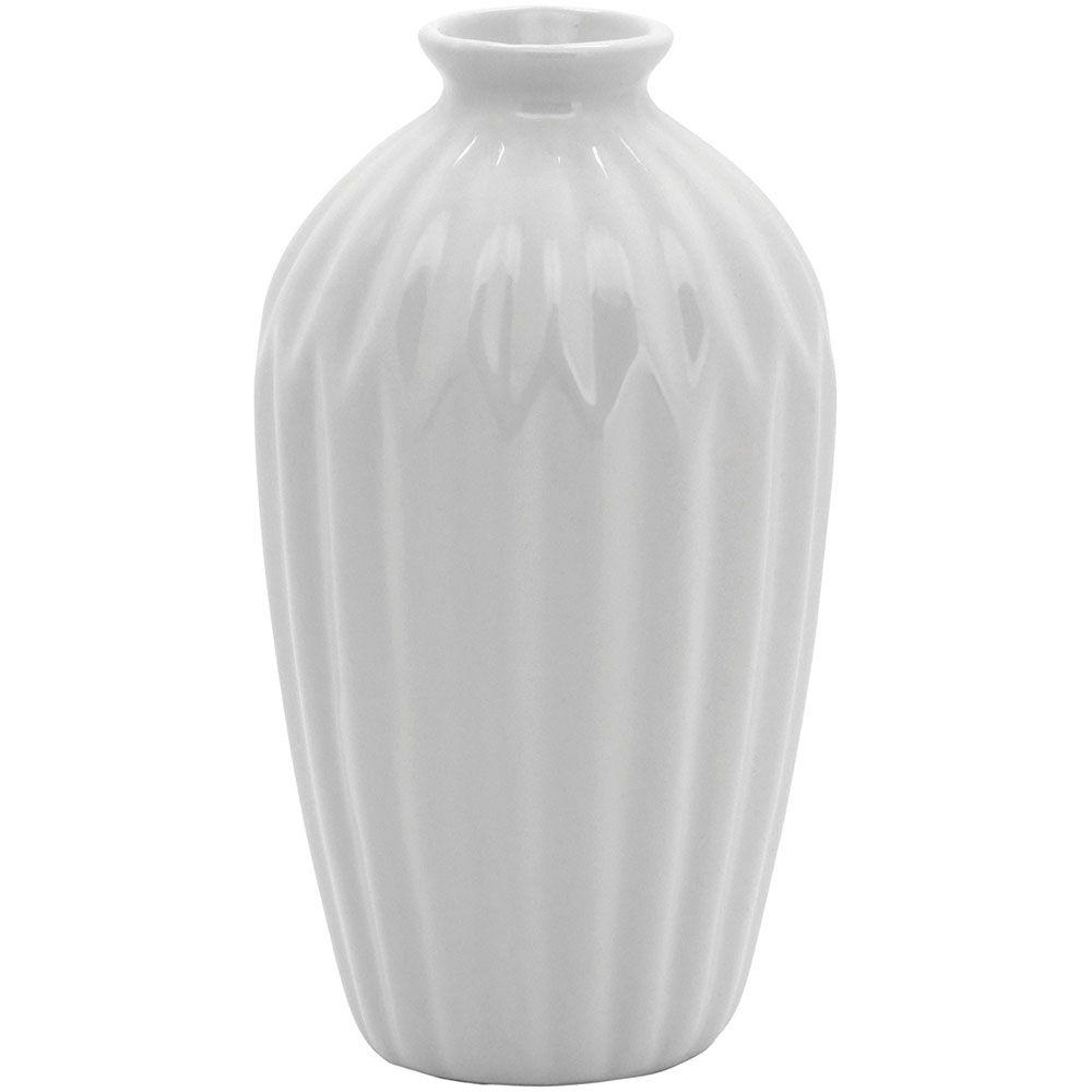Vaso Decorativo em Cerâmica Anita Branco 19cm