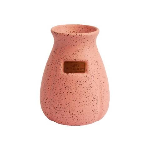 Vaso Decorativo em Cerâmica Granilite Rosa