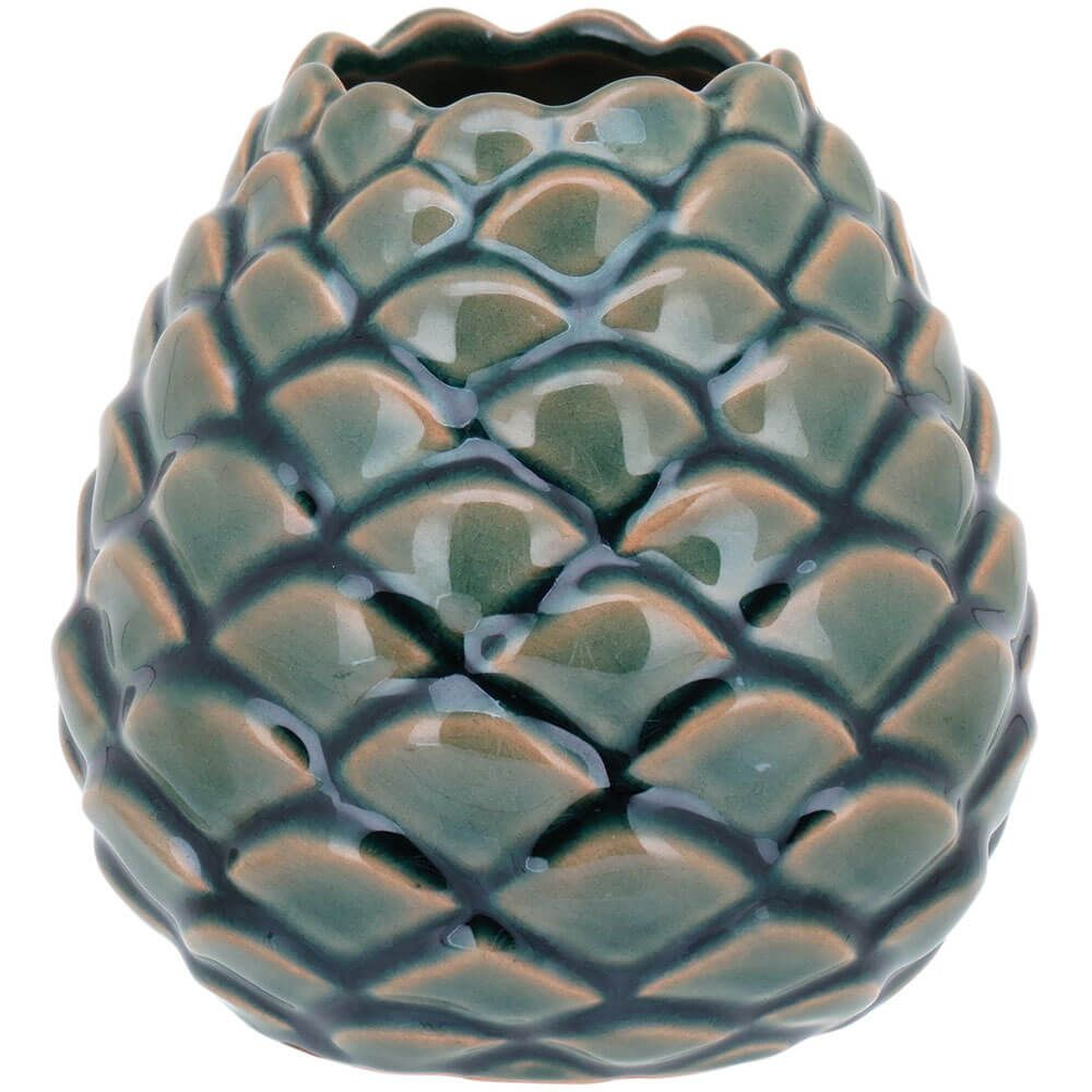 Vaso Decorativo em Cerâmica Oleron Verde 12cm