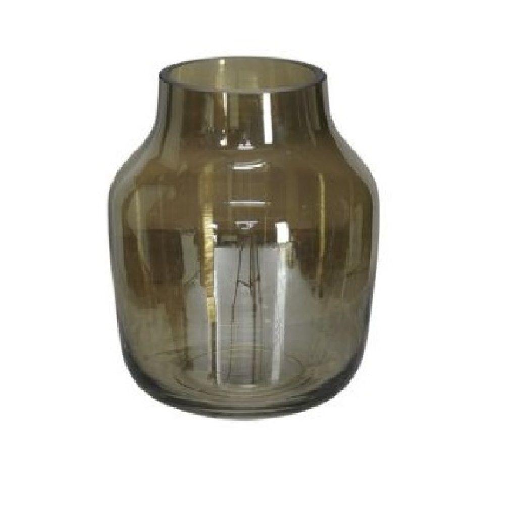 Vaso Decorativo em Vidro Fumê 15cm