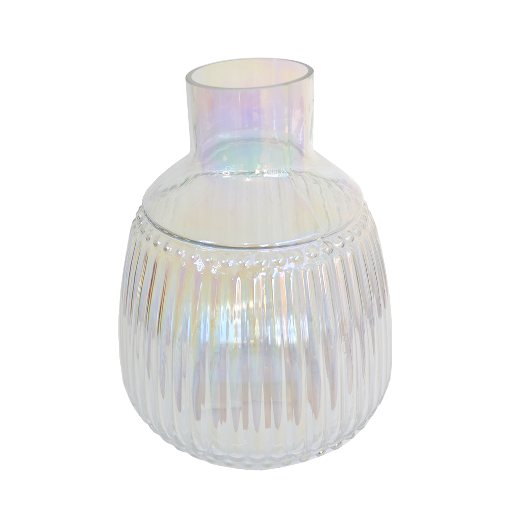 Vaso Decorativo em Vidro Holográfico 25,5cm