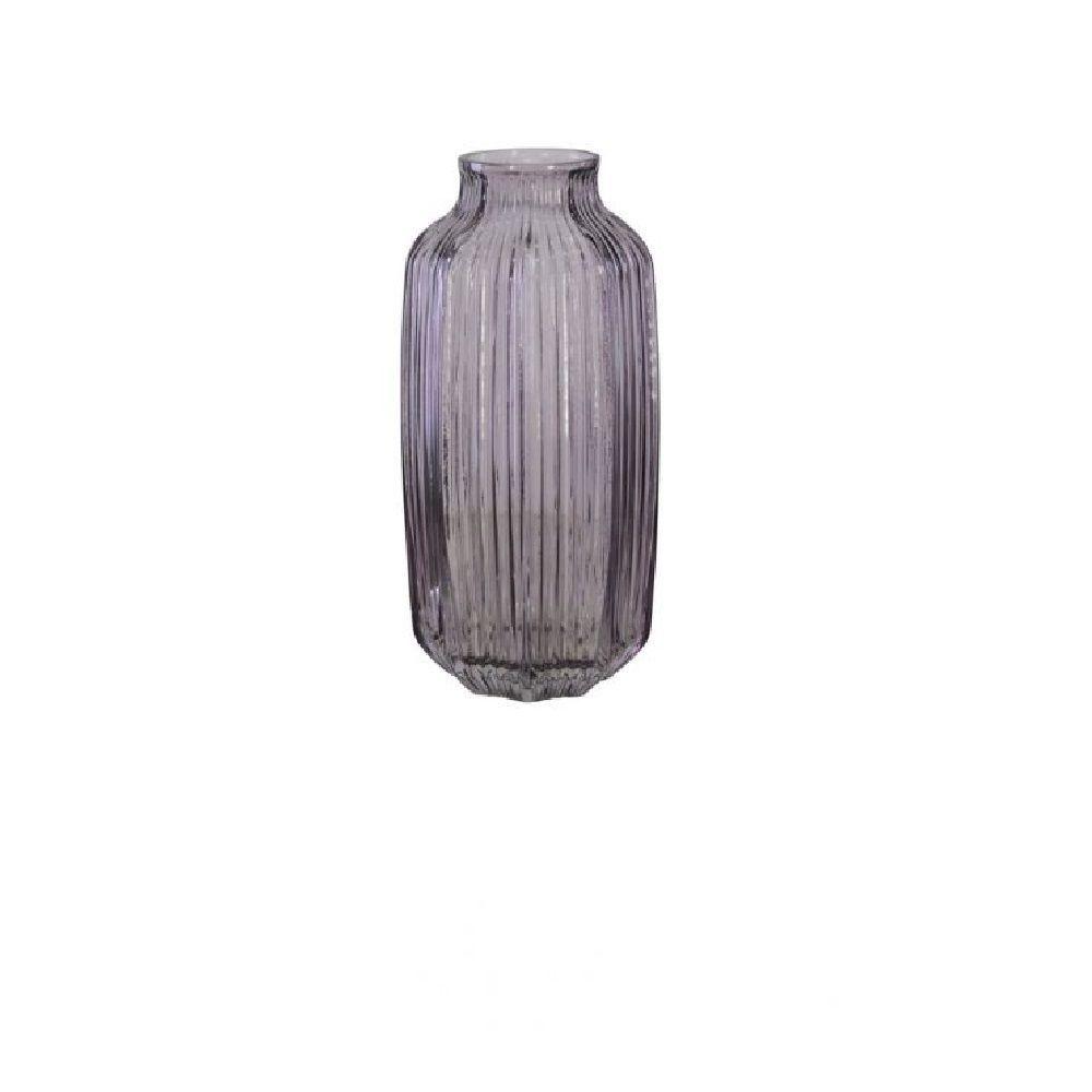 Vaso Decorativo em Vidro Lilás 26cm