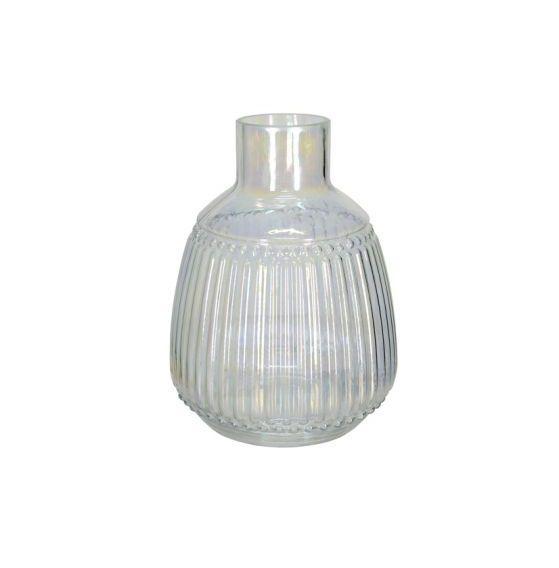 Vaso Decorativo em Vidro Holográfico
