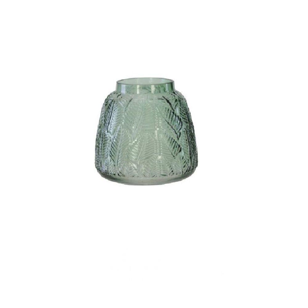 Vaso Decorativo em Vidro Verde 15cm