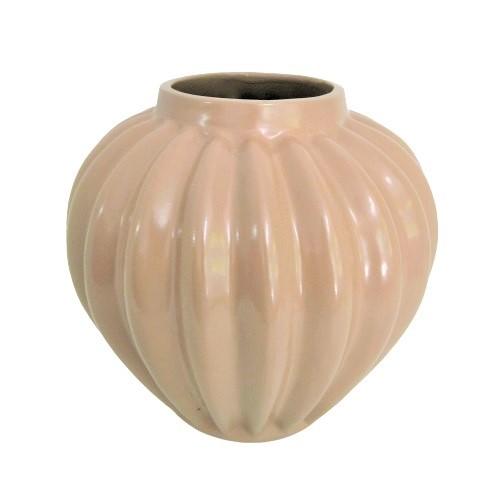 Vaso Decorativo Ocre em Cerâmica 20cm