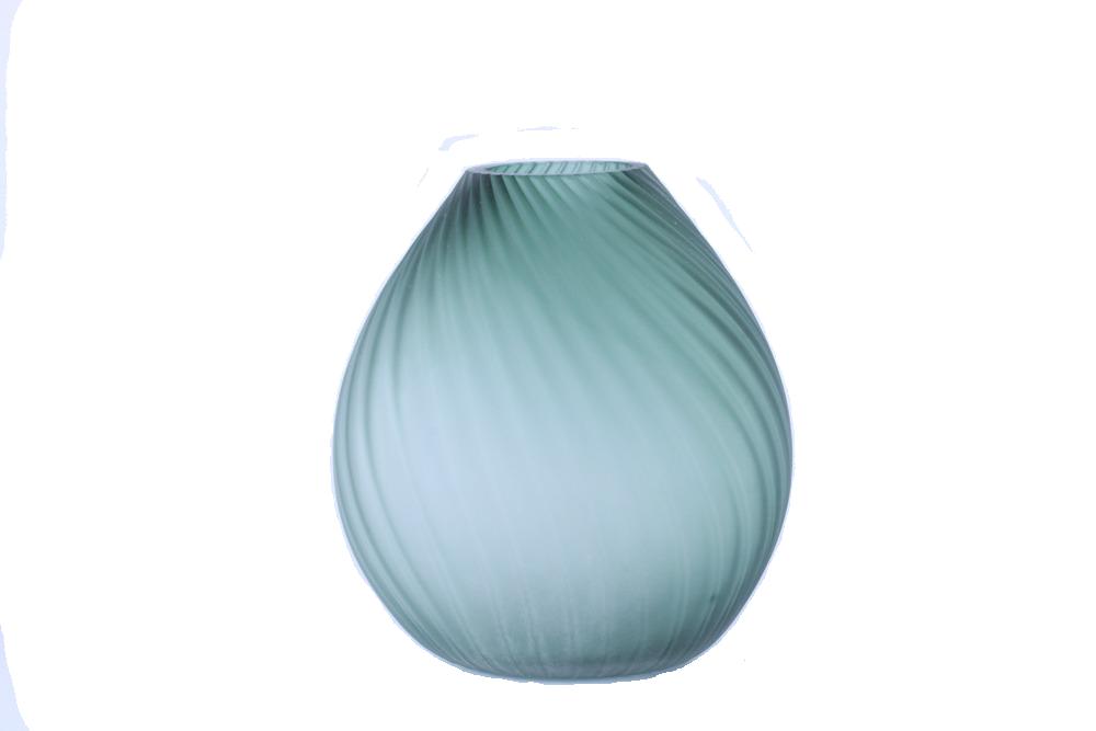 Vaso Decorativo Verde Fosco Redondo 26cm