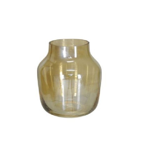 Vaso Decorativo Vidro Âmbar 15cm