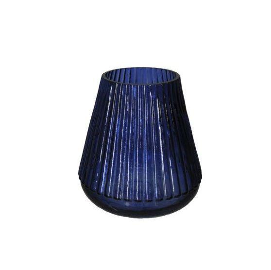 Vaso Decorativo Vidro Azul