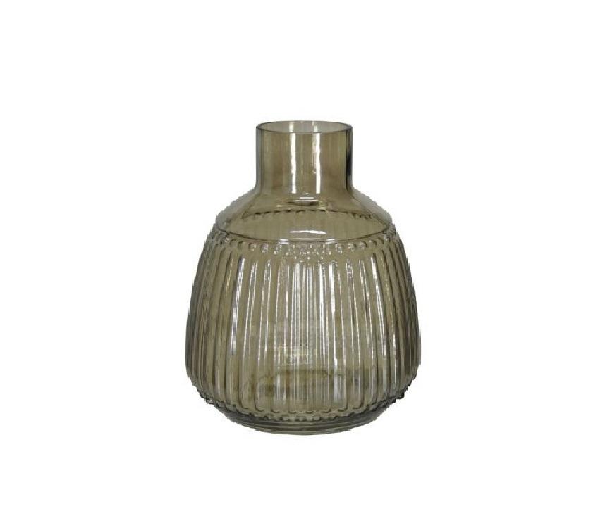 Vaso Decorativo Vidro Chumbo 25,5cm