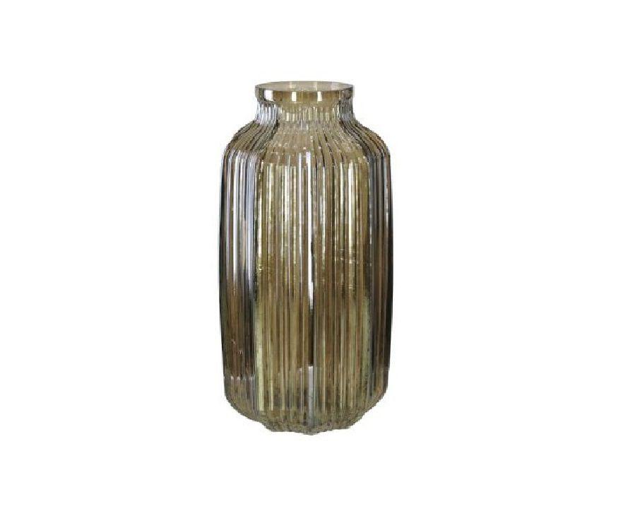 Vaso Decorativo Vidro Cinza 26cm