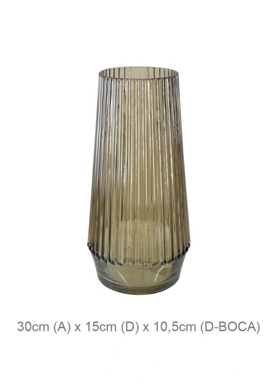 Vaso Decorativo Vidro Fumê 30cm