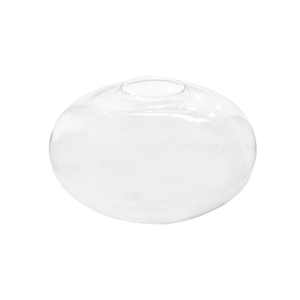 Vaso Oval Decorativo de Vidro Branco 7,8x11,5cm