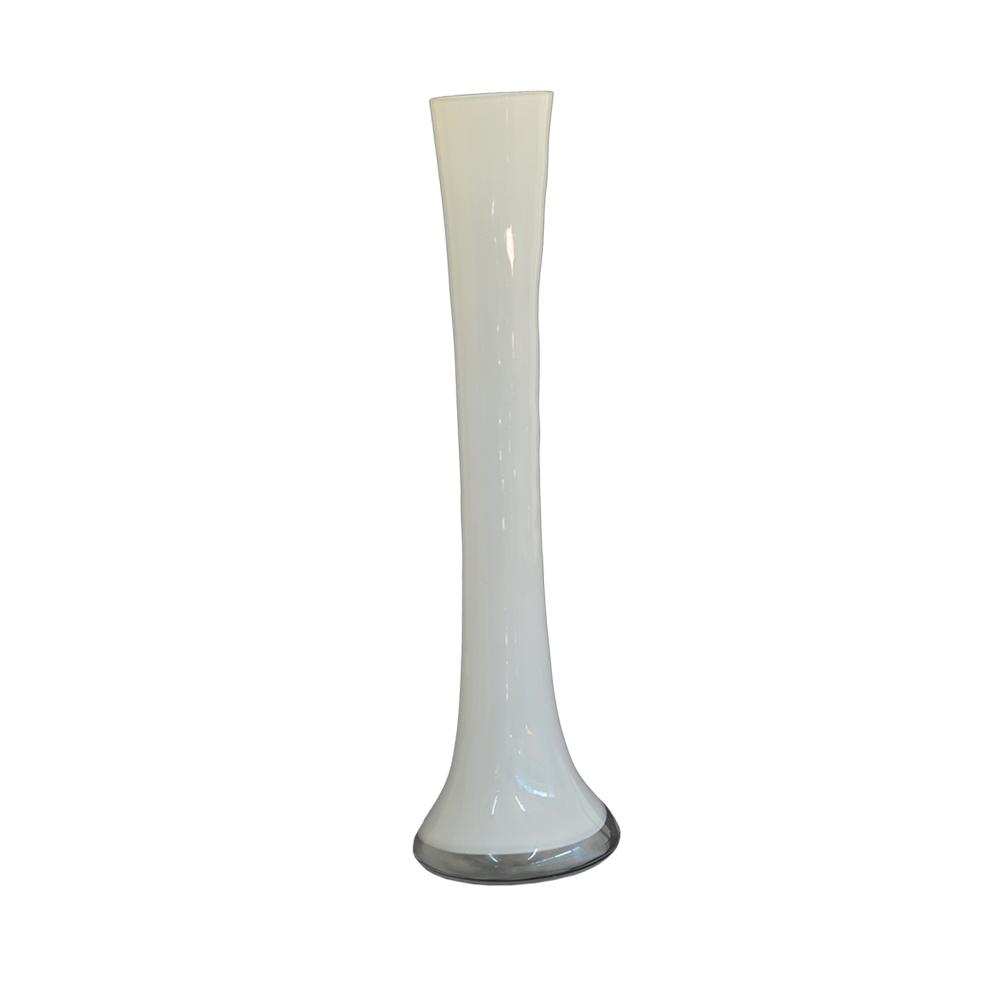 Vaso Solitário de Vidro Branco 30cm