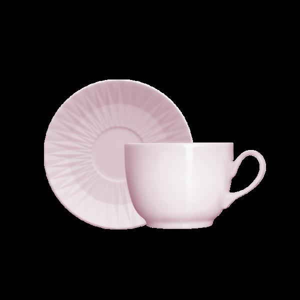 Xícara de Café com Pires 75ml Rosa Fractal Diamante Germer Porcelanas