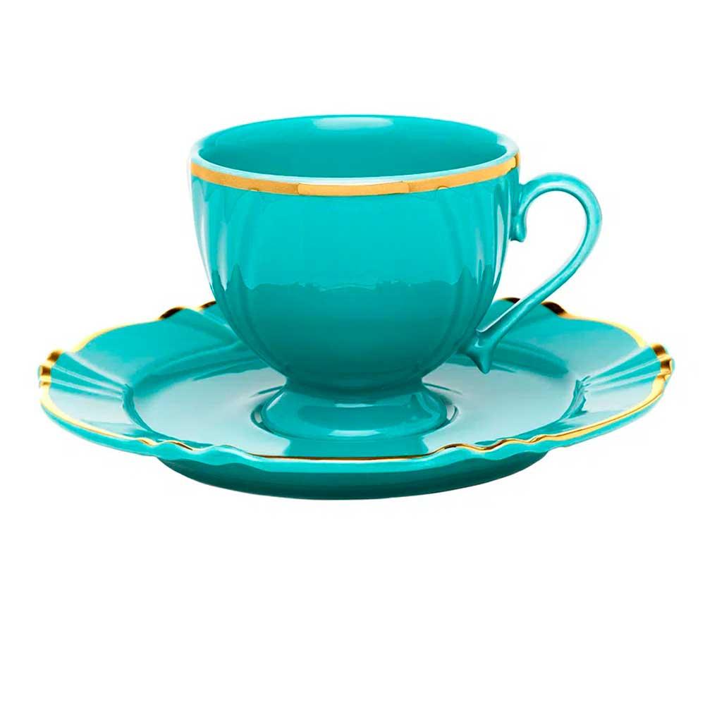 Xícara de Chá 200ml com Pires Soleil Aurora Oxford