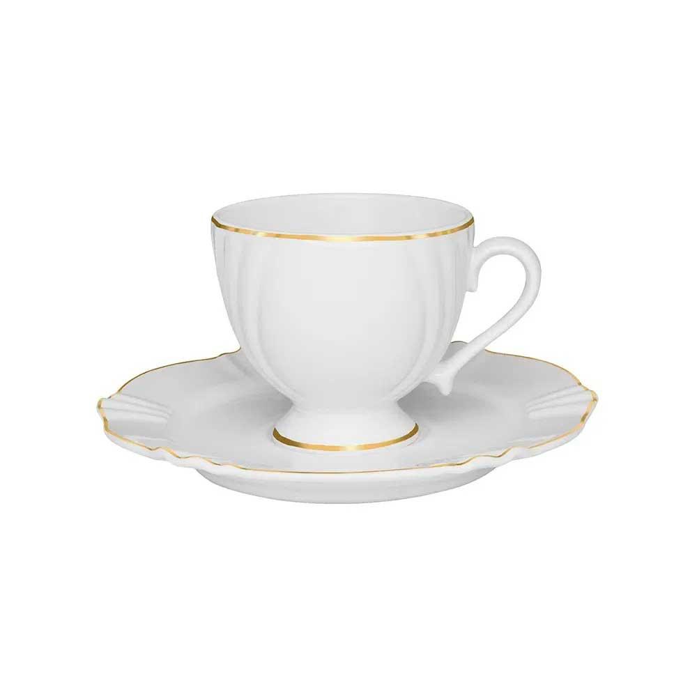 Xícara de Chá com Pires Soleil Victória 200ml Oxford