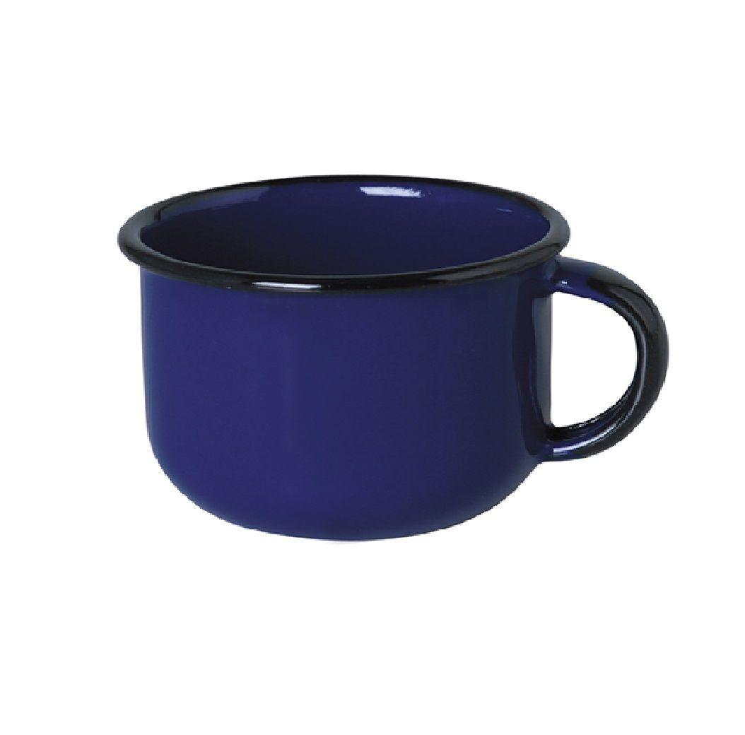 Xícara Esmaltada de Café 180ml - Azul