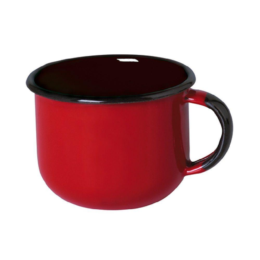 Xícara Esmaltada de Café 180ml - Vermelho