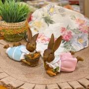 Casal de Coelhinhos Deitados