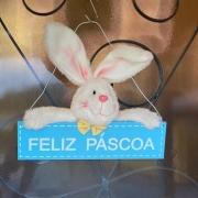 Placa de Feliz Páscoa