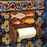 Suporte para Papel Toalha Peixes