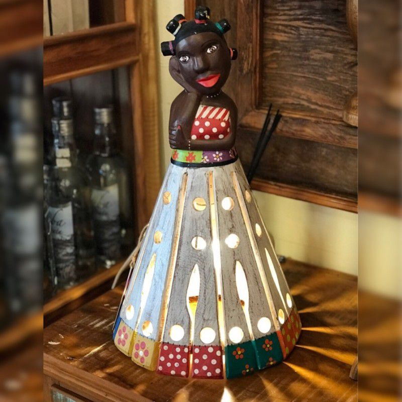 Luminária Boneca de Bantu P