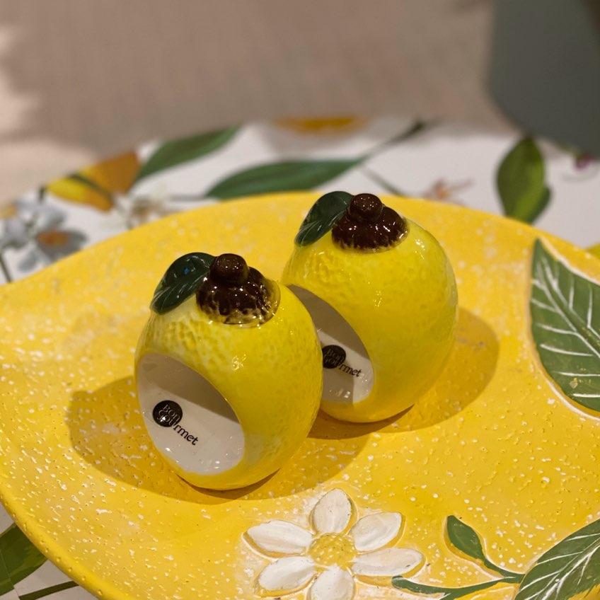 Porta Guardanapo de Limão Siciliano