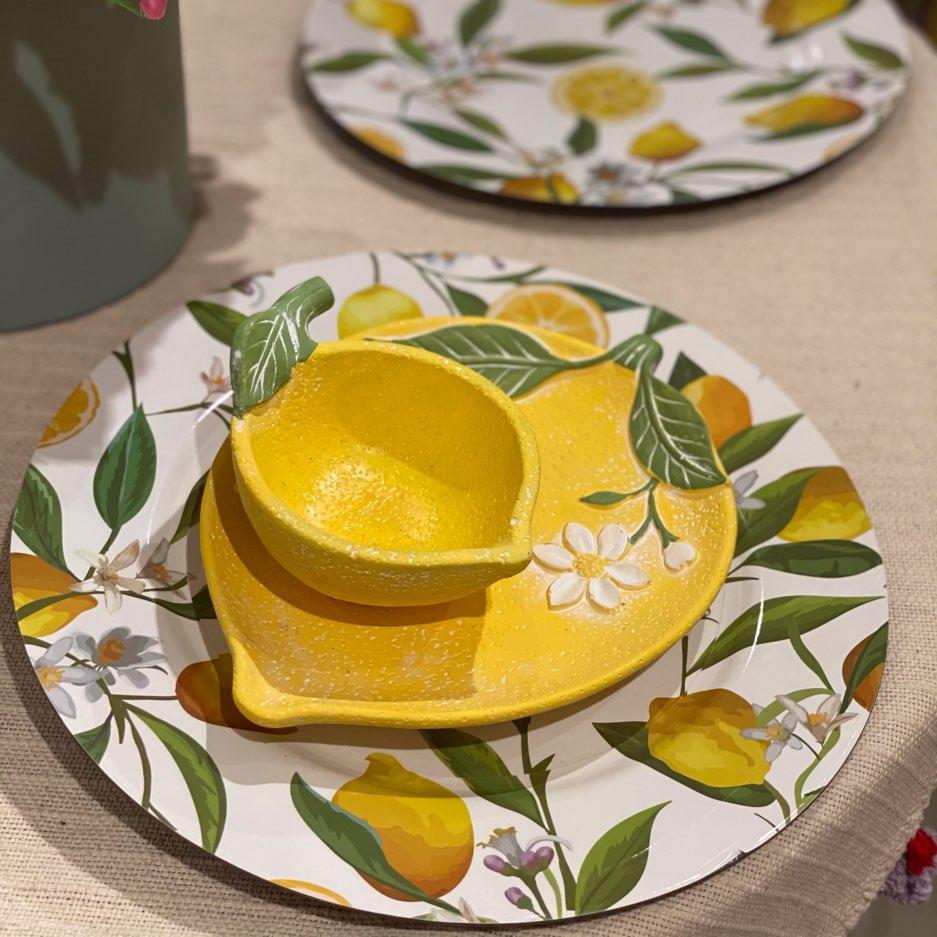 Prato em Cerâmica de Limão Siciliano