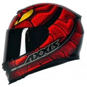 CAPACETE AXXIS EAGLE SNAKE GLOSS BLACK/RED
