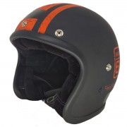 CAPACETE KRAFT OLD SCHOOL HISTORIC 66 PRETO