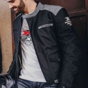 JAQUETA DE MOTO MOTOCICLISTA TEXX DEFENDER PRETO E CINZA PROTETORES POLIURETANO CERTIFICADO CE