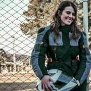 JAQUETA FEMININA DE MOTO TIPO PARKA MAIS LONGA ATRÁS COSTAS MOTOCICISTA TEXX ARMOR IMPERMEÁVEL
