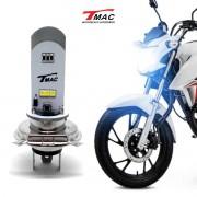 LAMPADA DE LED TMAC MOTO FAROL H4 18W COM 6 LEDs 1800 LM SEM REATOR M11Q LED018