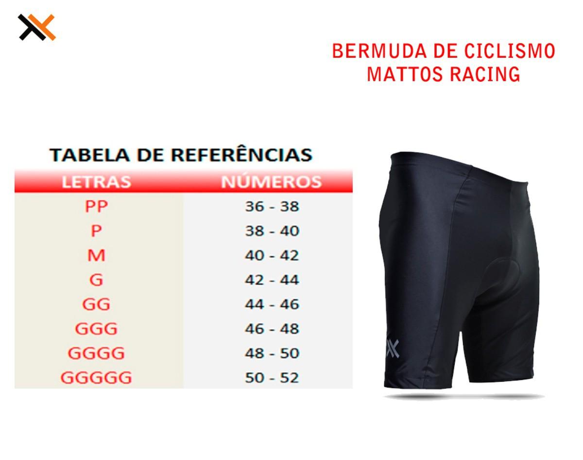 BERMUDA MATTOS RACING BIKE CICLISMO MASCULINA PRETO MTB