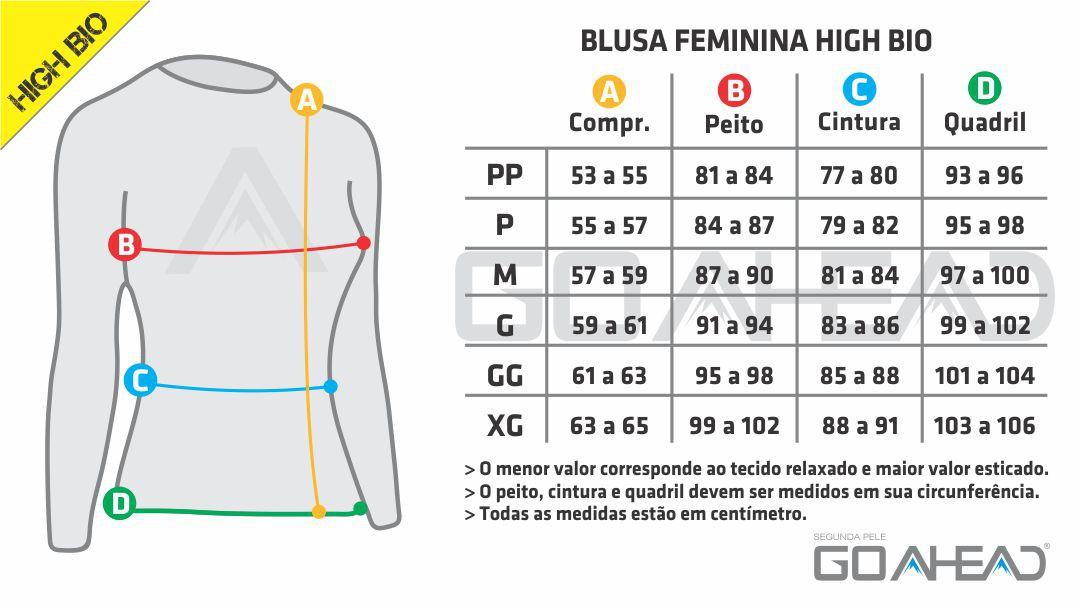 BLUSA GO AHEAD FEMININA SEGUNDA PELE HIGH BIO ( CALOR - VERÃO )