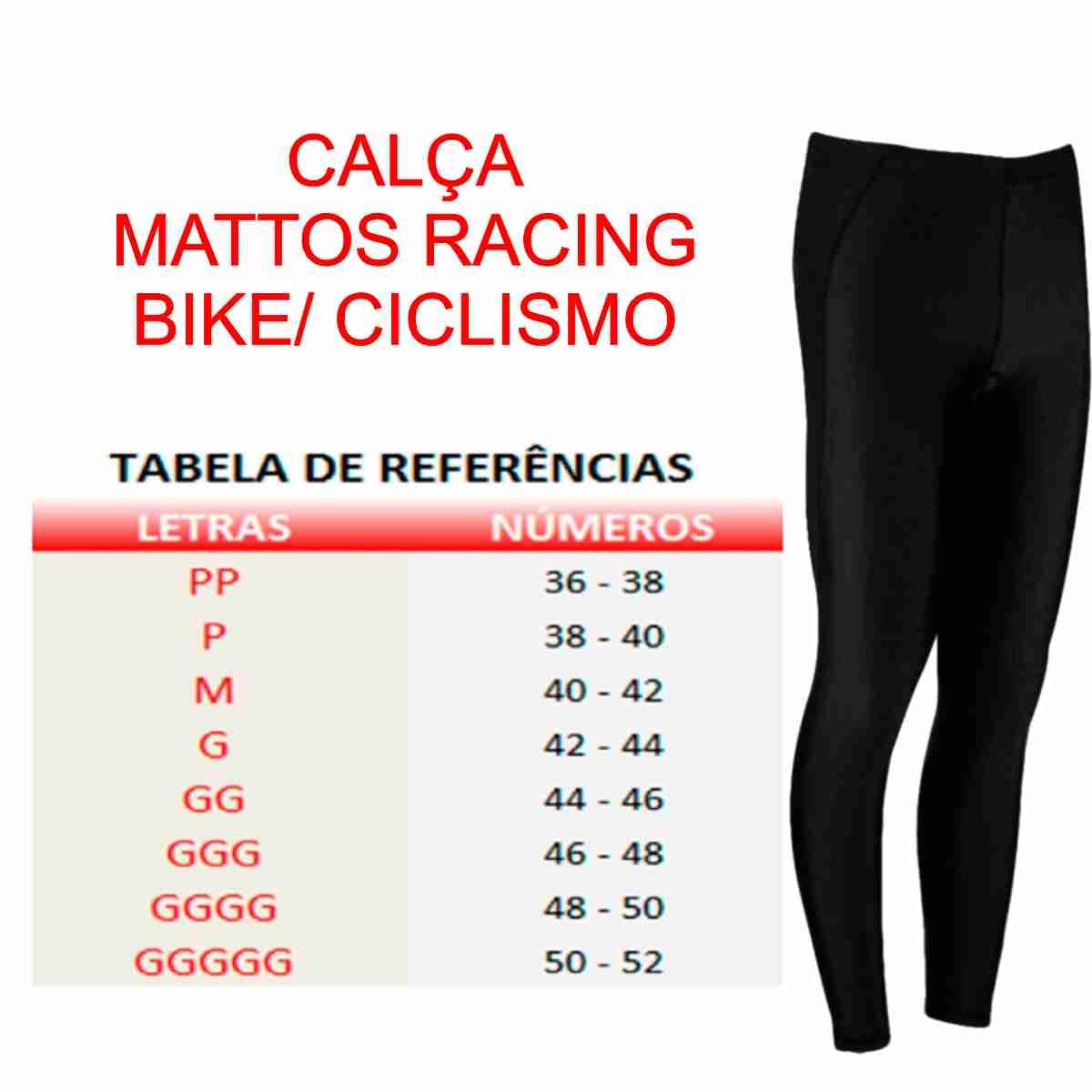 CALÇA MATTOS RACING MASCULINO BIKE CICLISMO PRETO
