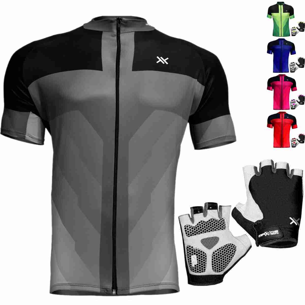 CAMISA MATTOS RACING BIKE LISA + LUVA CICLISMO GEL SHORT 1/2 DEDO
