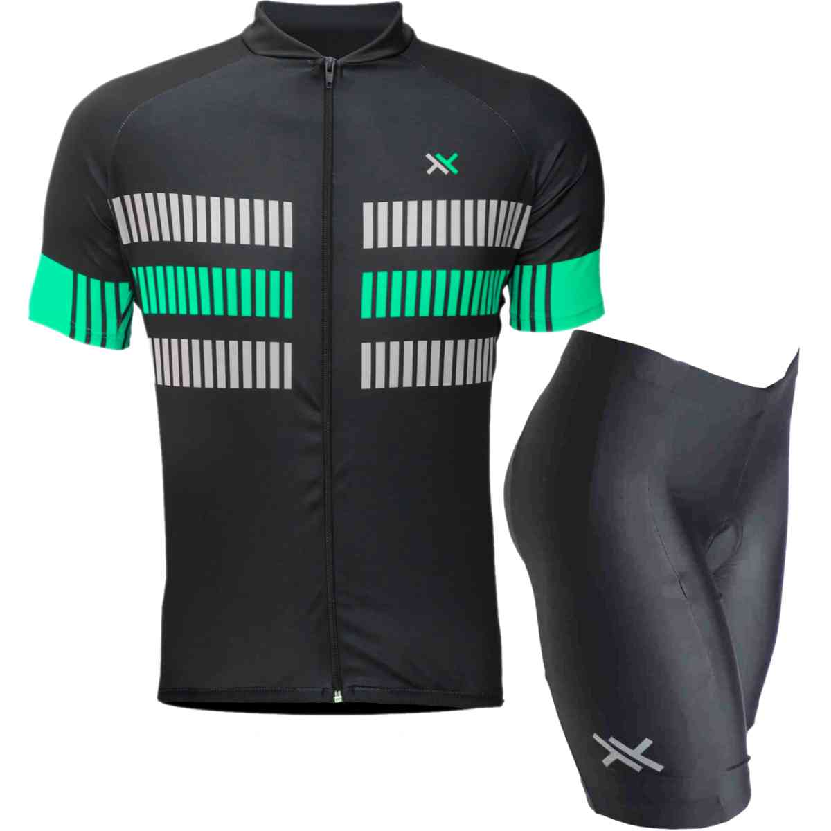 CAMISA MATTOS RACING BIKE TRACK MTB + BERMUDA PRETO CICLISMO D80 MOUNTAIN BIKE