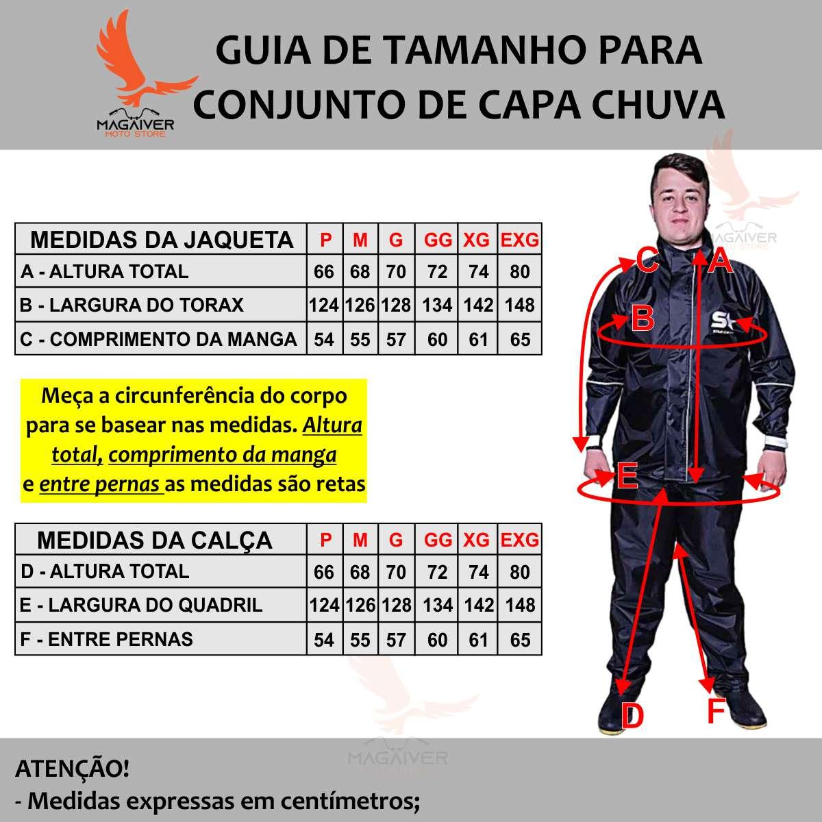 CAPA DE CHUVA STAR CAPAS CONJUNTO MASCULINO IMPERMEÁVEL PVC LUXO COM JAQUETA E CALÇA