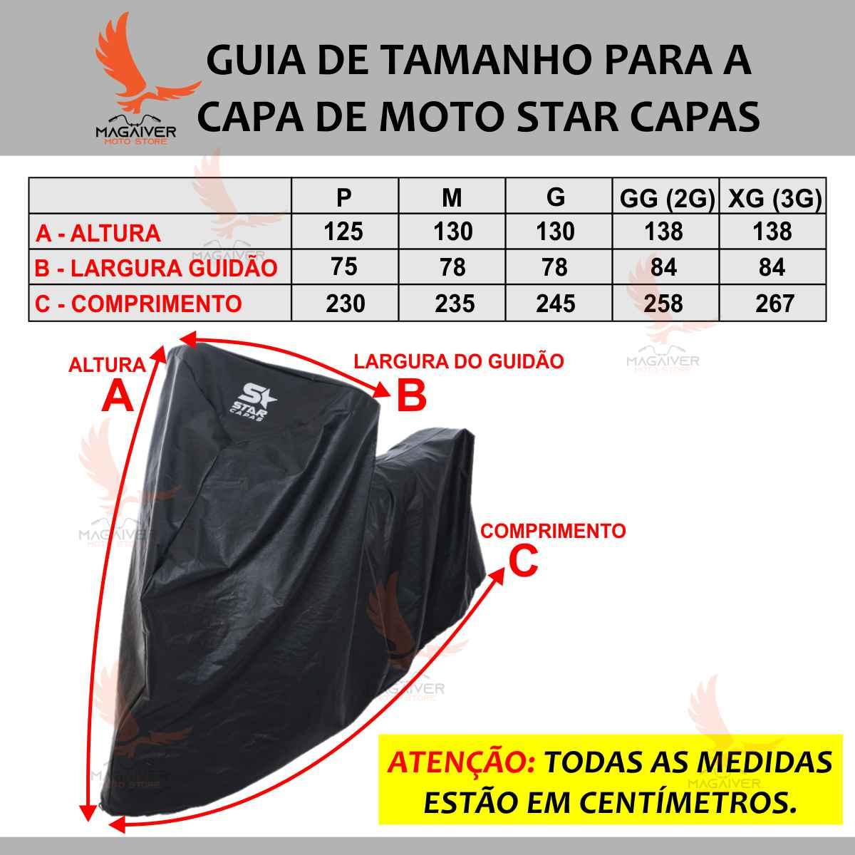 CAPA DE COBRIR MOTO IMPERMEÁVEL STAR CAPAS TÉRMICA PVC LUXO