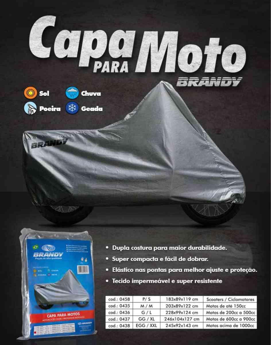 CAPA PARA COBRIR MOTO BRANDY TAMANHO 3G