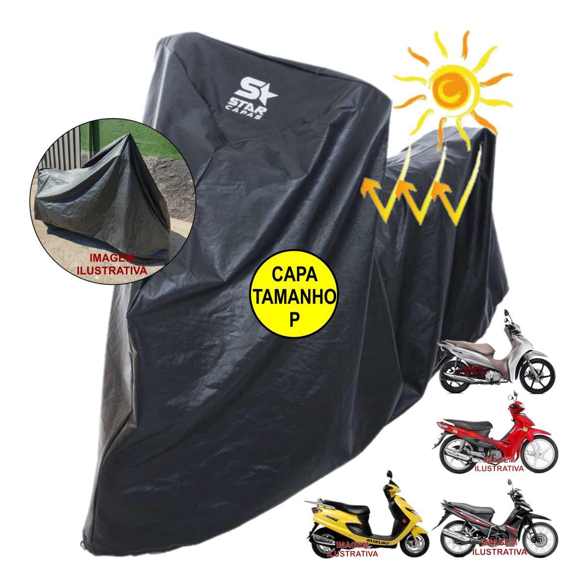 CAPA TÉRMICA COBRIR MOTO IMPERMEÁVEL COM FORRO PROTEGE PINTURA PVC LUXO MAIS GROSSA RESISTENTE