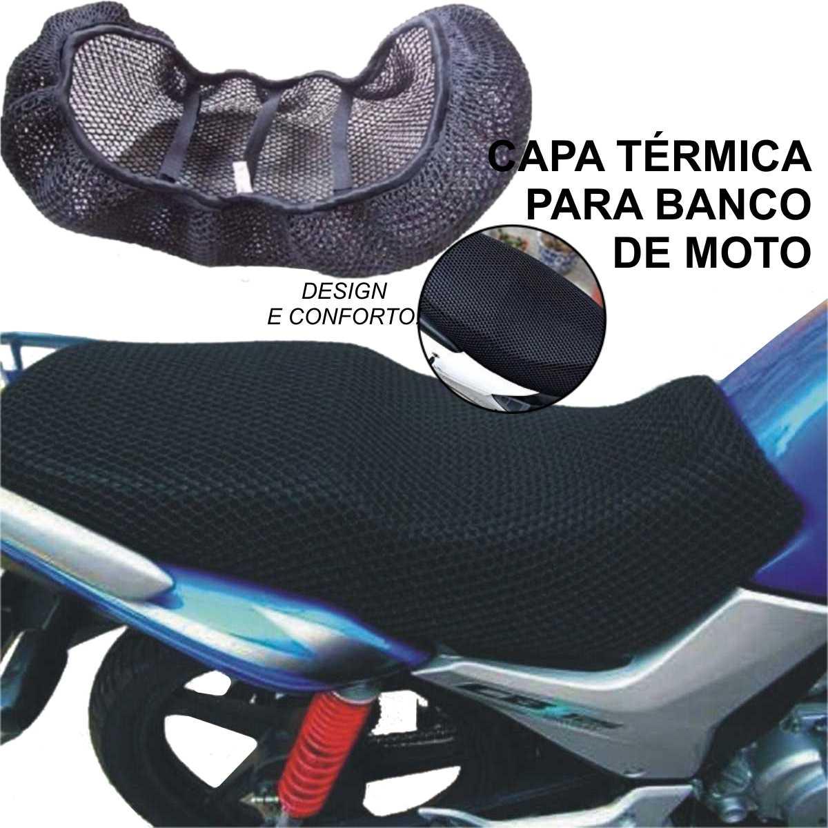 CAPA TÉRMICA PROTETORA DE NYLON GG PARA BANCO DE MOTO CG CB TITAN FAN YBR FACTOR BROS BIZ POP YES