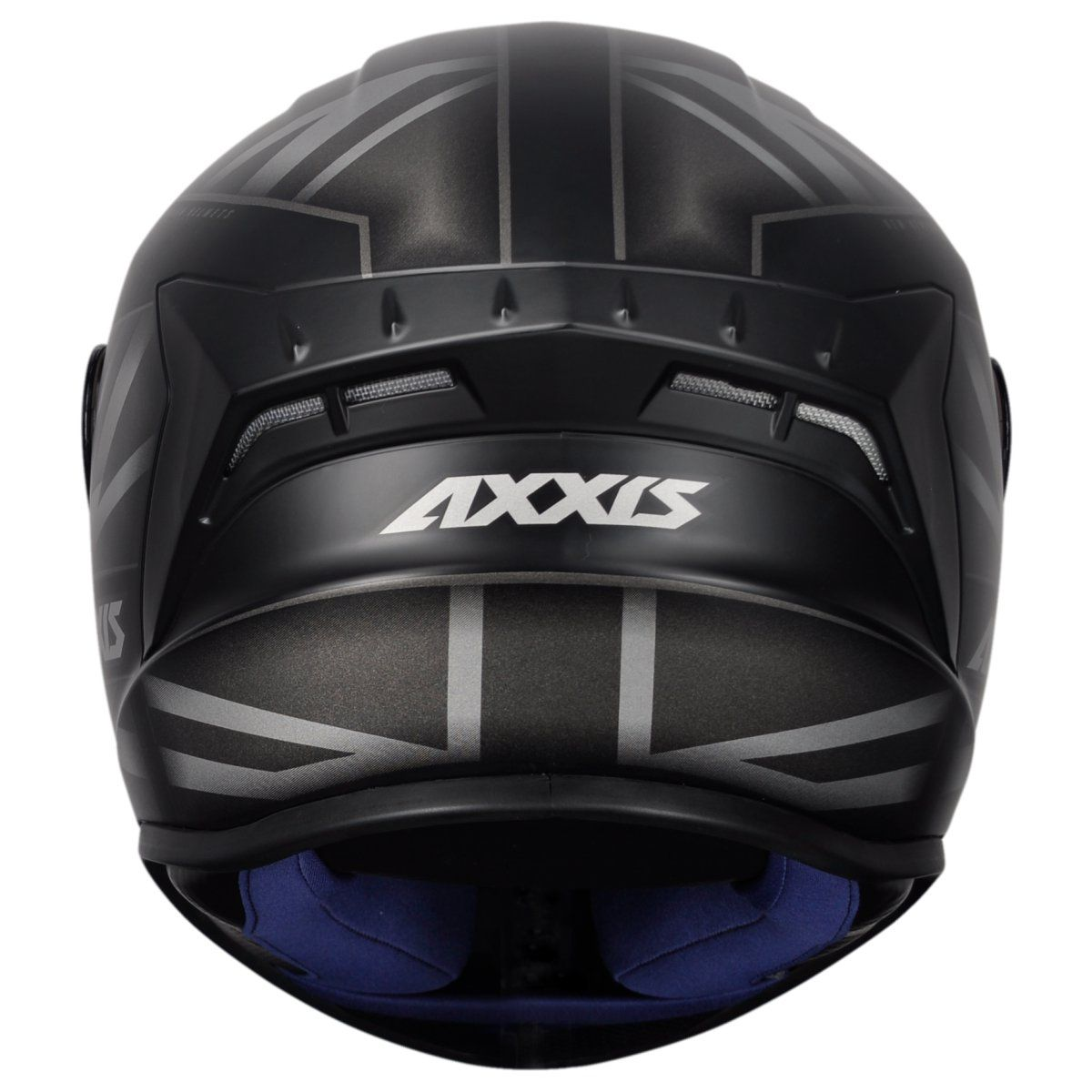CAPACETE AXXIS DRAKEN UK MATT BLACK GREY