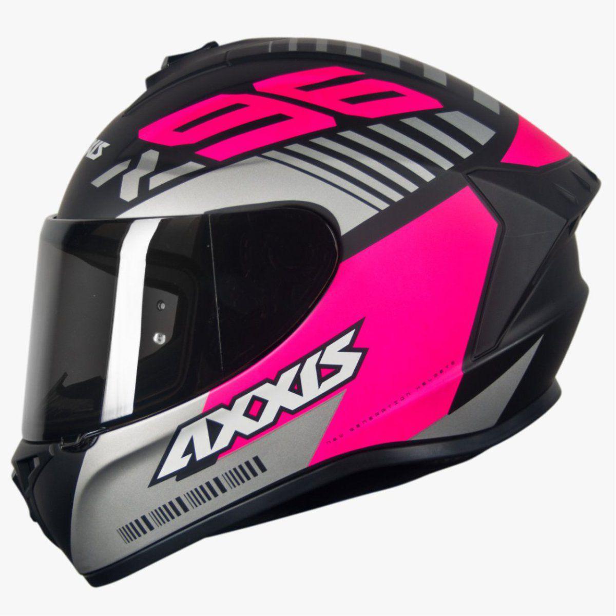 CAPACETE AXXIS DRAKEN Z96 MATT BLACK/PINK/GREY