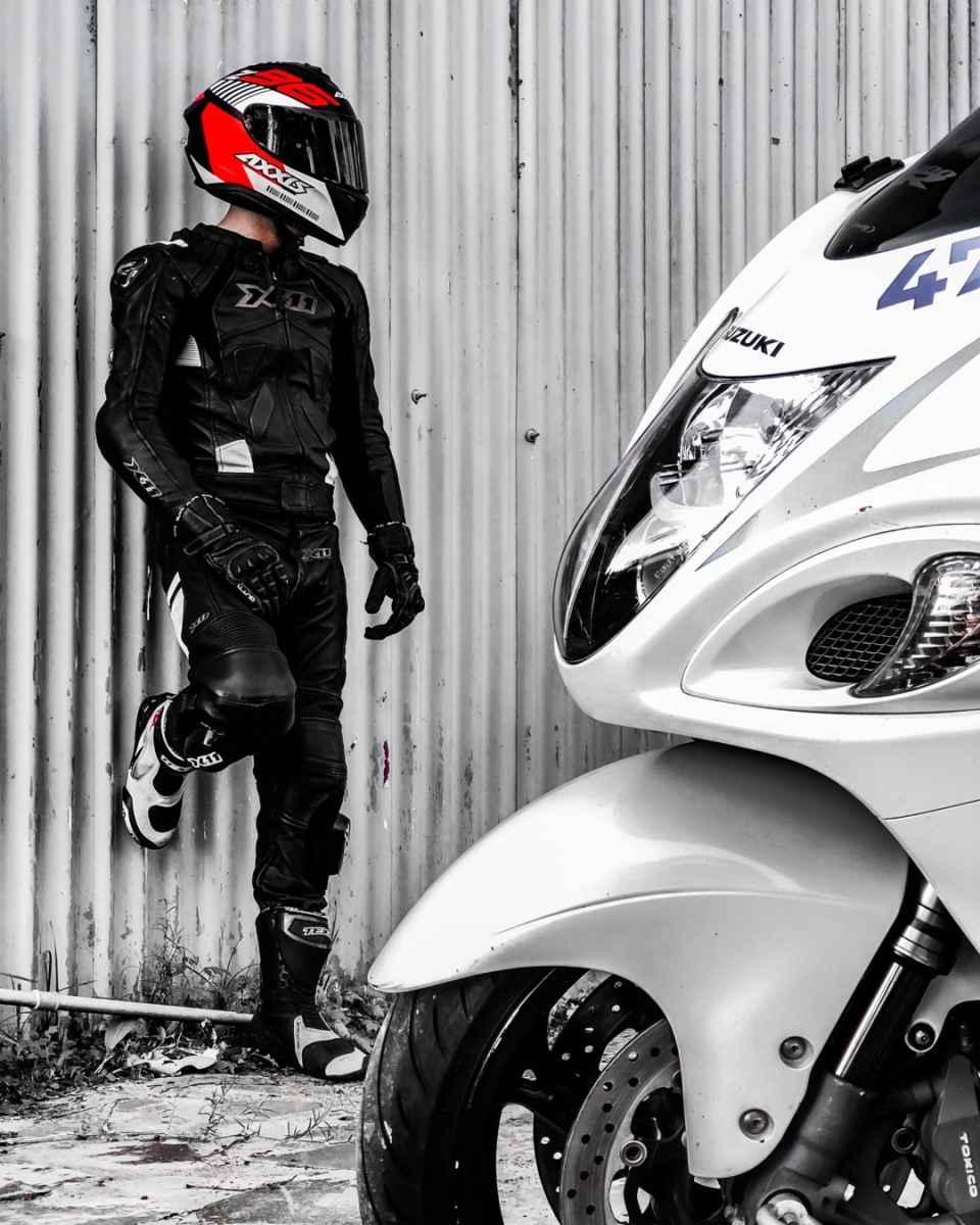 CAPACETE AXXIS DRAKEN Z96 MATT BLACK/RED/WHITE
