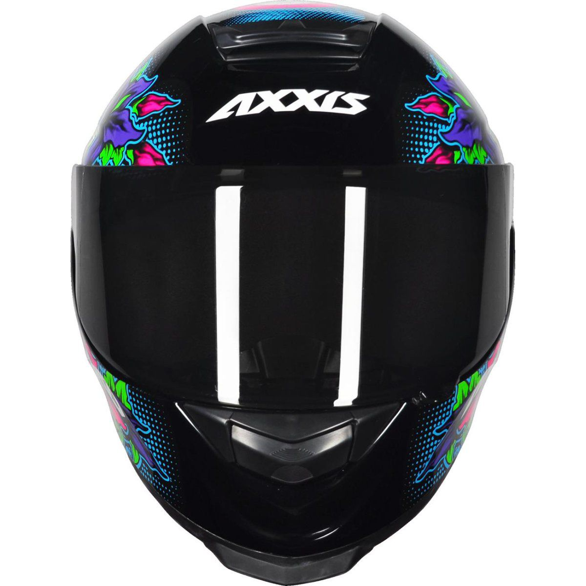 CAPACETE AXXIS EAGLE SKULL GLOSS BLACK/BLUE
