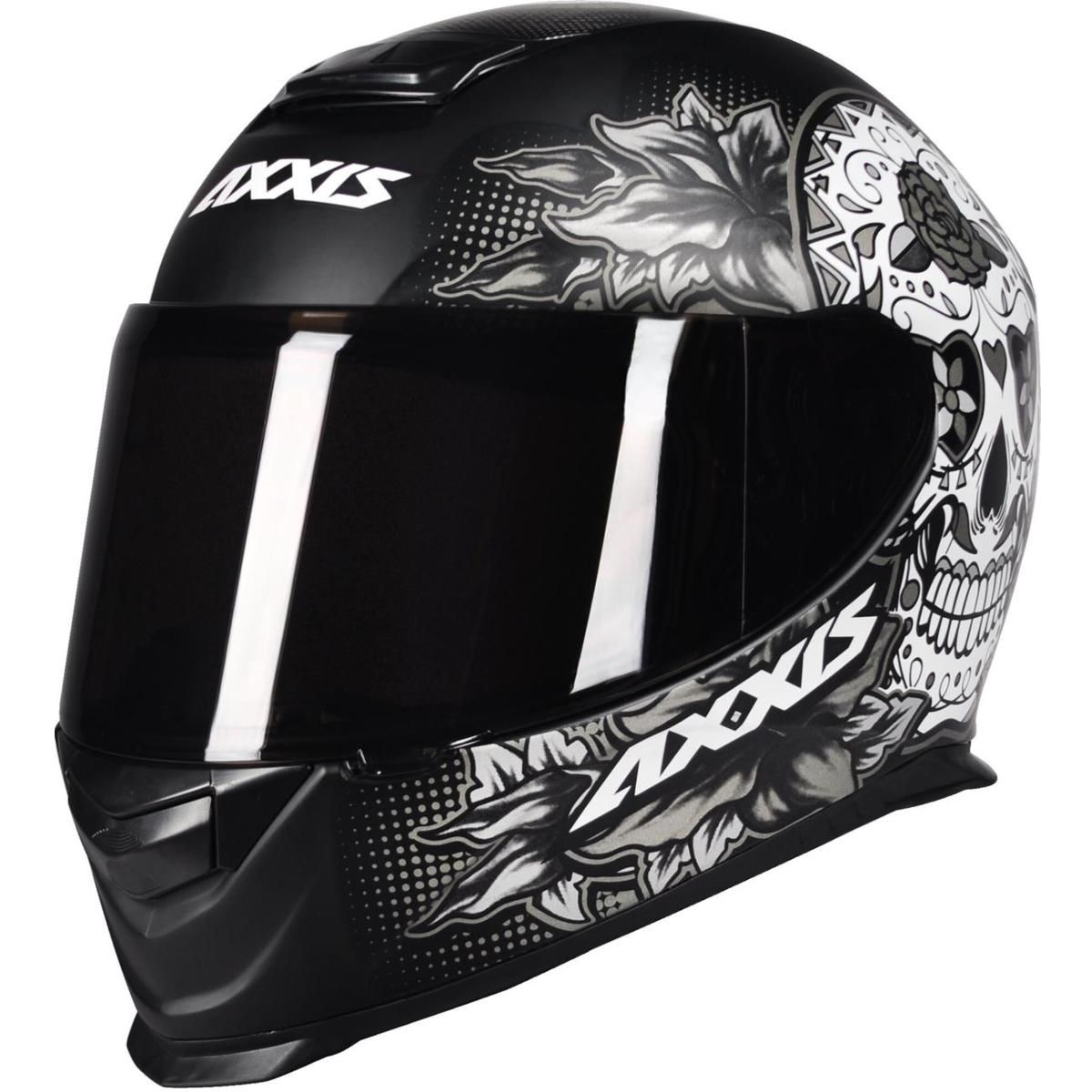 CAPACETE AXXIS EAGLE SKULL MATT BLACK/GREY