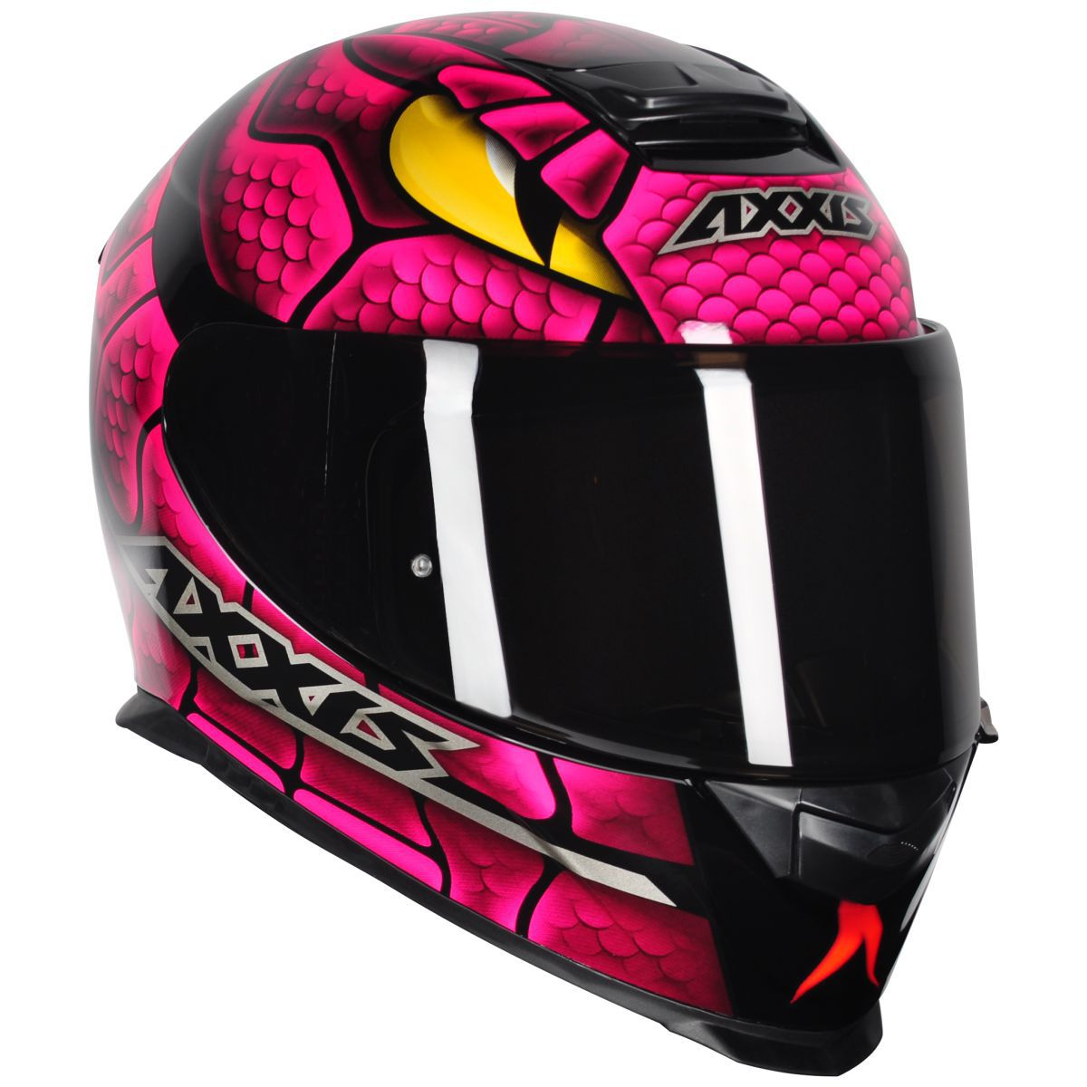 CAPACETE AXXIS EAGLE SNAKE GLOSS BLACK/PINK